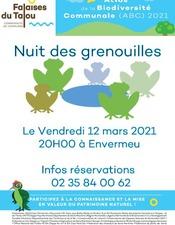 Nuit des grenouilles 12 mars